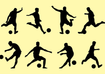 Silhouette Of Kickball Players - vector gratuit #398727