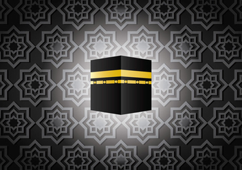 Dark Ka'bah in Mecca Vector - бесплатный vector #398807