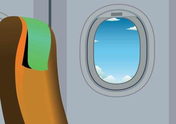 Free Plane Window Illustration - бесплатный vector #398817