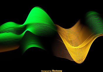 Abstract Colorful Green And Yellow Wave - Vector - Free vector #398847