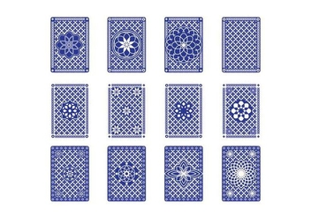 Free Playing Card Back Vector - Free vector #398857