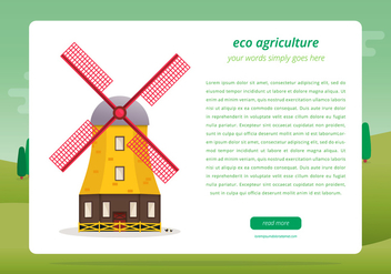 Agro Webpage Template - Free vector #398947