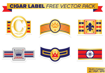 Cigar Label Free Vector Pack - Free vector #398977