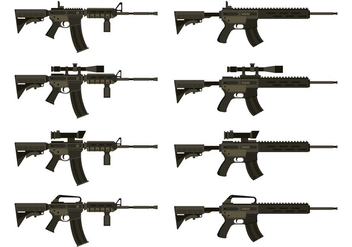 Vector Of AR15 - vector gratuit #398987