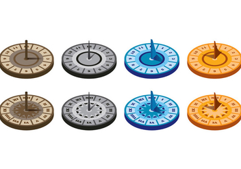 Set Of Sun Dial Vectors - vector #399027 gratis