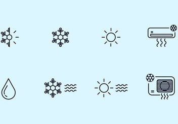 Hvac Icons - vector gratuit #399047