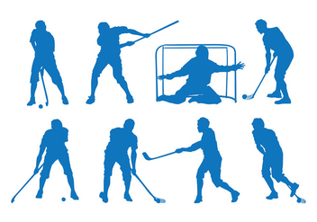 Floorball Silhouette Vector - бесплатный vector #399127