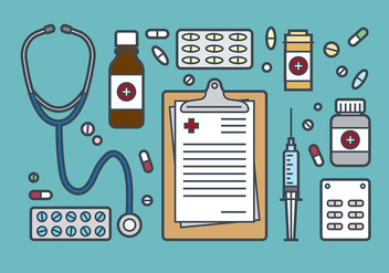 Medical and Prescription Pad Icon Vector - Free vector #399227