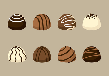 Assorted Truffles Vector - Free vector #399247