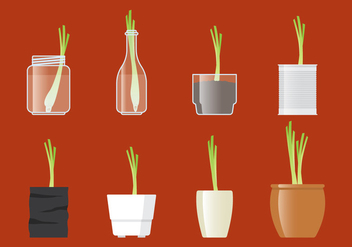 Vector Lemongrass In A Pot - vector #399277 gratis