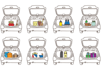 Car Boot Illustrations - Free vector #399307