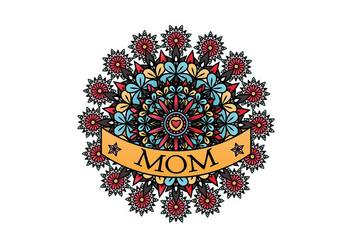 Mom Tattoo Vector - Free vector #399357