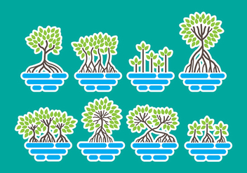 Mangrove Icons - vector gratuit #399417