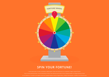 Spinning Wheel Fortune Illustration - бесплатный vector #399447