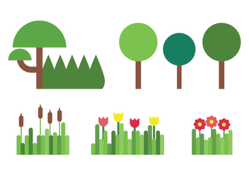 Nature Set - vector #399497 gratis