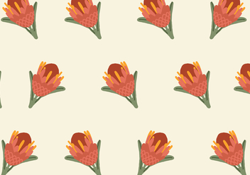Colorful Protea Pattern - Kostenloses vector #399517