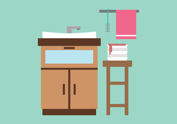 Sink and Dirty Dishes Vector - vector gratuit #399527