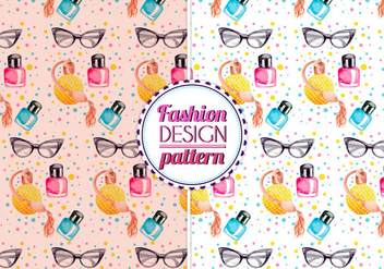 Free Vector Watercolor Fashion Pattern - бесплатный vector #399607