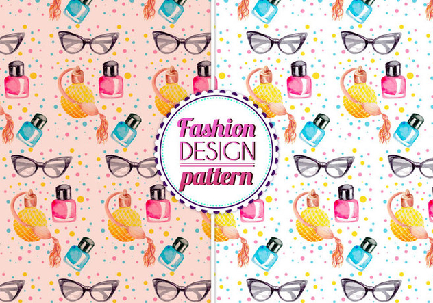 Free Vector Watercolor Fashion Pattern - Free vector #399607