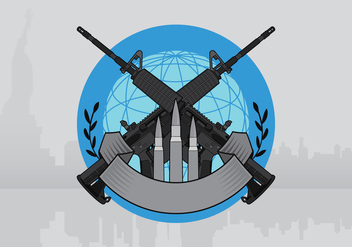 AR15 Badge Illustration Template - бесплатный vector #399627