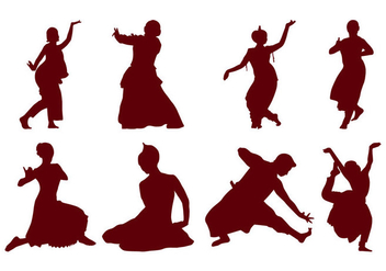 Free Indian Dance Silhouette Vector - бесплатный vector #399667