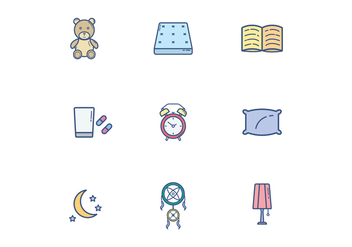 Free Sleeping Icons - vector #399697 gratis