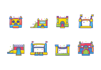 Free Bounce House Vector - бесплатный vector #399707