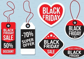 Free Vector Black Friday Labels - Kostenloses vector #399777