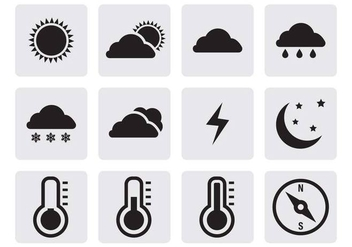 Free Weather Icons Vector - vector gratuit #399847