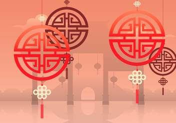 China Town Illustration - vector #399867 gratis