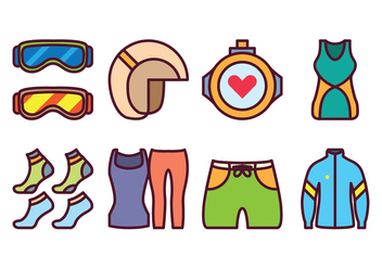 Free Sport Gear Icon Set - Kostenloses vector #399917