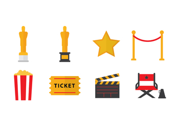 Free Academy Awards Oscar Icons - Free vector #399947