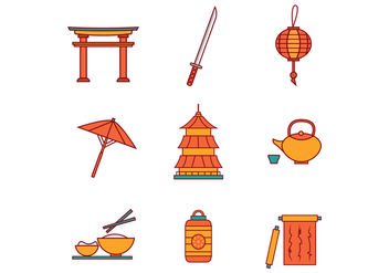 Free Japanese Icons Vector - vector #399967 gratis