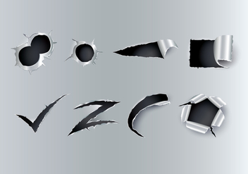 Free Ripped Metal Vector - Free vector #400187