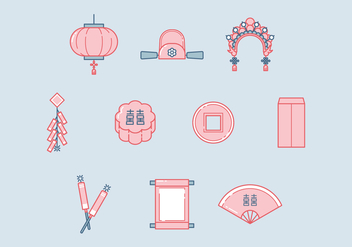 Free Chinese Wedding Vector - Free vector #400227