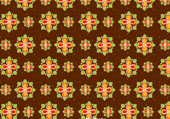 Happy Pongal Flowers Seamless Pattern - vector gratuit #400307
