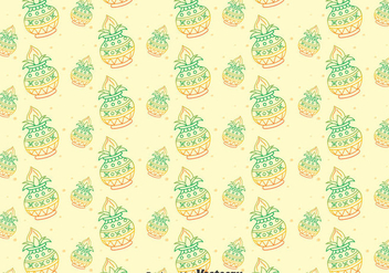 Happy Kalash Seamless Pattern - vector #400327 gratis