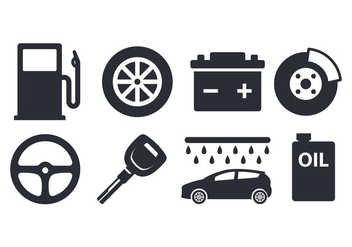 Free Car Element Set - vector #400367 gratis