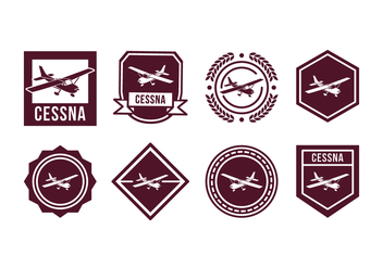 Free Plane Vector Badge - vector gratuit #400417