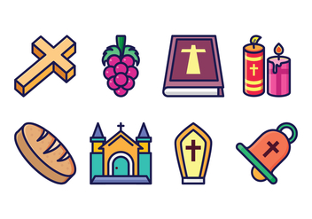 Free Eucharist Icon Set - Free vector #400427