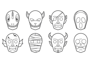 Free Halloween Mask Icon Vector - vector gratuit #400437