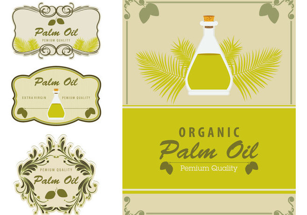 Palm Oil Labels Element - Free vector #400487