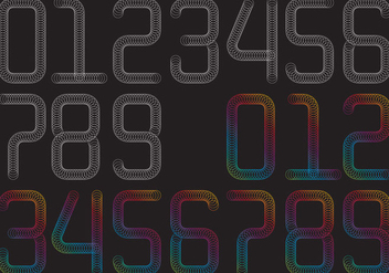 Spring Numbers - Free vector #400557