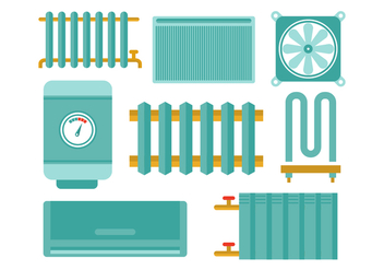 Free Radiator and Heating Flat Icon Vectors - Free vector #400577