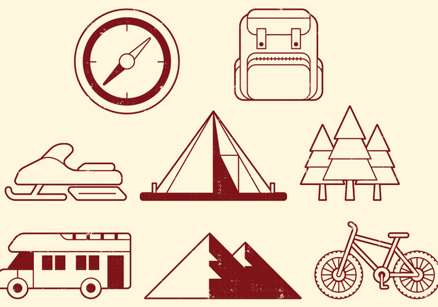 Camping Activities Icons - vector gratuit #400587