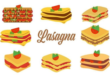 Free Traditional Italian Food Lasagna Vector Illustration - бесплатный vector #400647
