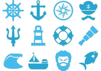 Free Sea Element Icons Vector - Free vector #400707