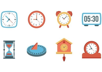 Free Clock and Watches Vector - vector #400717 gratis