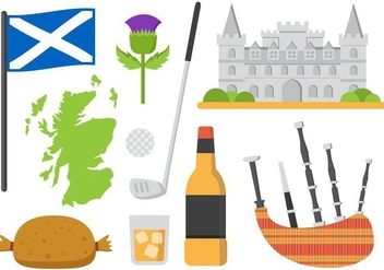 Free Scotland Elements Vector Illustration - Free vector #400757