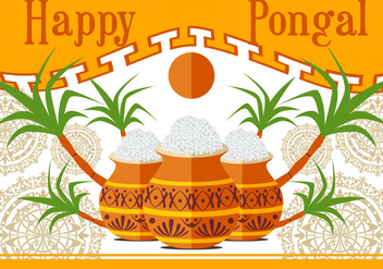 Happy Pongal Vector illustration - Kostenloses vector #400807